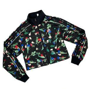Rare Adidas Bellista Floral Crop Jacket Suit Top